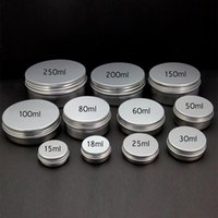 Wholesale Wholesale Nails Screws - Empty Cosmetic Pot Tin Aluminium Container 15g 30g 50g 60g 80g 100g 150g 200g 250g Screw lid Nail Art Cream Jar