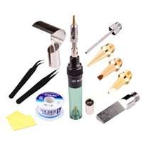 Wholesale High Quality Solder - 10pcs High Quality Electronics DIY MT-100 Tool Gas Soldering Iron Gun Blow Torch Cordless Solder Iron Pen