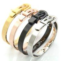 hebilla de titanio al por mayor-Oro negro de titanio puro de alta pureza del nouveau riche belt buckle bracelet bracelet
