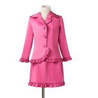 Wholesale Interview Suits For Girls - Girls Pageant Dresses Two Pieces Ruffles Long Sleeves Short Mini Shirt Formal Interview Suit For Kids New Style