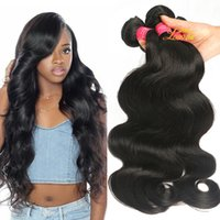 Wholesale Remy Wavy - Brazilian Virgin Hair Body Wave Bundle Unprocessed 8A Brazilian Virgin Remy Human Hair Extensions Malaysian Virgin Hair Wet And Wavy Weave