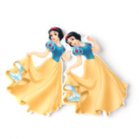 Wholesale Cabochons Kids - 30Pcs Little Princess Planar Resin Jasmine Snow White Mermaid Rapunzel Flatback Resin Cabochons Kids Girls DIY Craft Decoden Embellishment