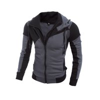 Wholesale Wholesale Leather Hoodies - Wholesale- Men Hoodies Patchwork Leather Sleeve Fashion Hoodies Men Jacket Coat Brand Sweatshirt Casual Suit Pullover Tracksuits Masculino