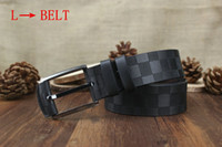 Wholesale tttt Fashion l Stripe Pattern Double G Chain Buckle Men Designer f Belts European Style Brand waistbands High Quality Real Leather