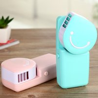 Mini outdoor wall fan - Portable Mini Air Conditioner Fan Smile Face USB Rechargeable Cooling Fans With Lithium Battery Outdoor Travelling Hot Sell lm J R