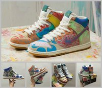 Mesh sports campbell - 2017 SB Zoom Dunk High Premium Thomas Campbell Running Shoes Women Mens Fashion Sport Skateboard Graffiti Stefan Janoski Sneakers Size