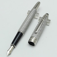 Wholesale Metal Line Marker - Luxury Marker Brand M 14K the fence lines ceramic silver Fountain pen canetas escolar boligrafos metal pen with bag