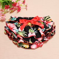 Everweekend Girls Baby Floral Ruffles PP Брюки Vintage Корея Прекрасная детская одежда Sweet Toddler Baby Summer Pants