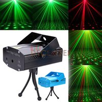 Mini 150mW Red Green LED Stage Lights Auto Strobe / velocidade ajustável / ativado por voz LED Laser Stage Light 3-Modes LED Laser Stage Lighting