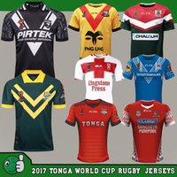 Wholesale England Rugby Xxl - 2017 RLWC TONGA World Cup fita rugby League Jersey New Zealand Lebanon 2018 Australia Jerseys kiwis PAPUA NEW GUINEA England samoa Shirts