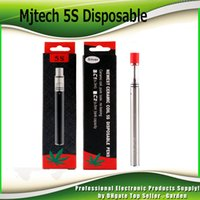 Wholesale E Cigarette Oil Kit - Authentic Mjtech 5S Disposable Vape Pen Kit for Thick Oil 320mAh E Cigarette Starter Kits with Ceramic Coil Glass Tank 100% Genuine