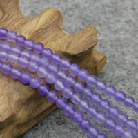 ingrosso artigianato di pietra di giada-Natural Purple Ametista Accessori Artigianato Branelli allentati rotondi Jasper Jade Stone Jewelry Making Handmade Regali 15 pollici 4mm