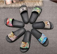 black gladiator shoes - 2017 New Arrival Shoes mens fashion causal rubber sandals Womens summer outdoor beach print slide flip flops
