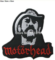 Wholesale patches for vests for sale - 3 quot Motorhead Lemmy Kilmister Rock Punk retro OFF FOR iron on patch heavy metal music band sew on Biker Vest badge