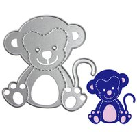 Wholesale Monkey Cards - Monkey Metal DIY Cutting Dies Stencil Scrapbook Card Album Paper Embossing Craft