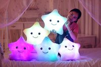 Wholesale Light Up Star Pillow - Hot sale Bright Light Up Throw Pillows Stuffed Dolls LED Stars Plush Toys for Kids Soft Cosy Cushion
