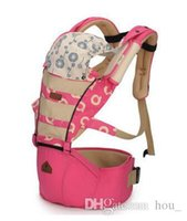 Wholesale Floral Shoulder Baby Carrier - Europe pure cotton multifunctional baby carrier baby sling portable baby waist stool hug hold newborn backpack high grade hipseat breathable