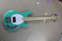 Wholesale Musicman String Bass Guitars - Free Shipping !! Hot Sale High Quality Ernie Ball Musicman Music Man Sting Ray 4 Strings Green Electric Bass Guitar