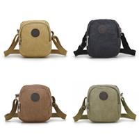 Wholesale Over Shoulder Bags Wholesale - Wholesale- Vintage Canvas Men's Crossbody Over Shoulder Messenger Bags Handbag Leisure Travel Bag 4 Colors
