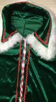 Wholesale Mascot Feet - Mascot clothing Adult Men's Deluxe Santa Claus Christmas Costumes Santa Uniform Xmas Costume ( gloves + shawl+hat+clothes+belt+Foot cover)