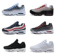 2017 Uomo Retro 95 OG Cuscino Air Sport Navy Aria di alta qualità Chaussure 95s Camminare Stivali Uomini Corsa Scarpe Air Cushion 95 Sneakers Dimensioni 40-46