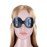 Wholesale Male Sex Toys Masks - Goggles Round Blindfold Mask Soft Leather Attractive Adult Product Bondage For Couples Sex Toy Restraint Blinder Male And Female