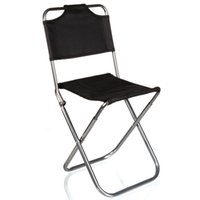 Wholesale Wholesale Portable Stools - Wholesale- Brand High Quality Black Aluminum Folding Grill Portable Stool Chair Fishing Chairs Bag Outdoor Travel Fishing Foldable Chair