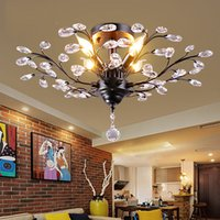 Wholesale crystal branch trees resale online - Tree Branch Pendant Lamps K9 Crystal Chandeliers light modern chandelier E14 V V LED Ceiling Light Chandelier Lighting Fixture