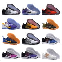 Wholesale Cheapest Low Cut Basketball Shoes - 2017 new Kobe 11 Elite Low Basketball Shoes Men 100% Original New Arrival Sneakers Cheap Retro Weaving Kobe 11 Running Shoes Size Eur 40-46