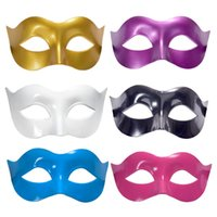 Wholesale wholesale plastic mardi gras masks - Women Man Party Masks Zorro Half face Mardi Gras Masquerade Mask for Women Men Plastic Pure Colour Festive Supplies Fashion 1 2yk
