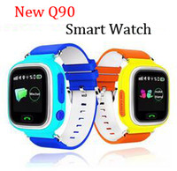 Wholesale Cheap Touch Screen Watches - New Cheap GPS smart watch baby watch Q90 with Wifi touch screen SOS Call Location DeviceTracker for Kid Safe Anti-Lost Monitor PKQ80 Q60 DHL