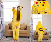 Wholesale Kids Onesie Pajama - go Pajama Adult Kids Cosplay Costume Pikachu Onesie For Unisex Dance Fancy Pajama Halloween Party