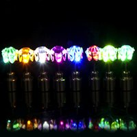 Wholesale Led Stud Lights - LED Electronic Light LED Flash Earrings Flash Stud Earrings LED Earrings Hipster Novel Creative Personality Love Stud Earring