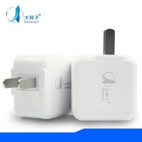Wholesale Good Rocks - good Metal Dual USB wall US plug 2.1A AC Power Adapter Wall Charger Plug 2 port for samsung galaxy note LG tablet ipad