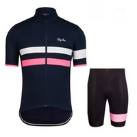 Wholesale China Mtb - NEW Rapha Cycling Jerseys Set Bike Short Sleeves Clothing racing bicycle Wear summer men's mtb cycling clothing cheap-clothes-china E1804