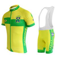 Wholesale bicycle jerseys custom - custom made jerseys 2018 Brazil cycling jerseys short sleeve clothing sets bicycle bike wear clothing maillot ropa ciclismo