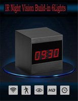 ingrosso sveglia della macchina fotografica cmos-Nuovo HD 1080P IR Night Vision Camera Wifi Alarm Clock Camera Orologio Camcorder di sicurezza Videoregistratore P2P Motion Detection Cam Cam Nanny