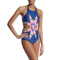 Wholesale plus size lady swimwear - New Fashion Floral Sexy Women Swimwear Summer One Piece Plus Size Push Up Lady Swimsuit