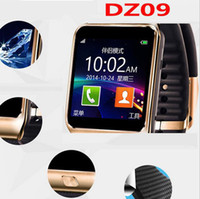 Wholesale Wholesale Rate Mobile Phones - DZ09 Smart Watch dz09 Watches Wrisbrand Android iPhone Watch Smart SIM Intelligent Mobile Phone Sleep State Smart watch Retail Package