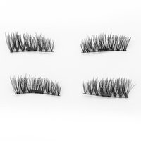 Wholesale Cheap Fake Lashes - hot cheap 6D Magnetic Eyelashes False Natural Long Eyelashes Full Strip Magnet Lashes Hand Made Fake Eyelashes KS01