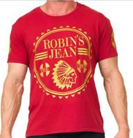 jeans robin pour vêtements hommes achat en gros de-Nouveaux hommes chauds Robins Jean Chemises Hommes t-shirt été homme cool marque vêtements t-shirts tops coton hip hop