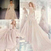 Wholesale Amethyst 14 - Hayley Paige Fall 2017 Embroidered Organza Wedding Dresses Amethyst Long Sleeve Rococo Luxury Beaded Embroidery Cheap Bridal Gown
