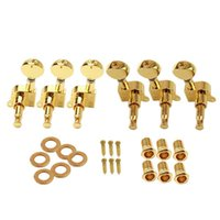 Wholesale Machine Keys Wholesale - Wholesale- 6Pcs Set Electric Guitar String Tuning Pegs Locking Tuners Keys Machine Heads 3L+3R