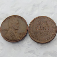 Wholesale Crafts Accessories - 1943 LINCOLN ONE CENTS COPY USA coins differ Crafts Free Shipping Promotion Cheap Factory Price nice home Accessories Coins