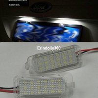 Wholesale Ford Focus S - 2x LED License Plate Light For FORD FOCUS 5D 08-2013 FIESTA MONDEO C-MAX S-MAX