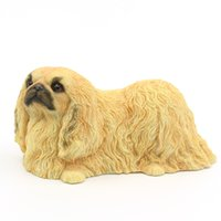 Wholesale Yellow Umbrella Sale - Hot Sale Pekingese Dog Statue - Lying Puppy Hand Painted Gift Pet Lovers Yellow color 6 Inches