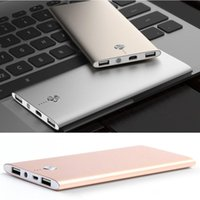 Wholesale Ups Power Metal - 2017 New Ultra thin Power Bank 20000Mah Li-polymer Portable Charger Powerbank External Battery for iPhone 7 Xiaomi Metal Alloy 20pcs By UPS