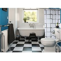 Hôtel Douche Imperméable Rideau Pas Cher-Vente en gros - Durable Black White Checkered Pattern PEVA Waterproof Bathing Rideau de douche Classic Non-fading Bathroom Decor for Home Hotel