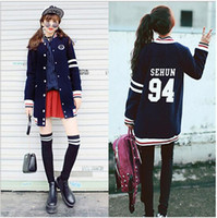 Wholesale Kpop Exo Jackets - Wholesale- G-dragon kpop Thicken Long section capa del hoodie chaqueta BIGBANG GD EXO lobo sudadera GD ropa Baseball uniform coat BT jacket