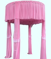 Wholesale Pink Draping Fabric - High Classic Backdrop Light Tulle Lace Fabric Decoration for Party Match Used Pipe and Drape Alternatives